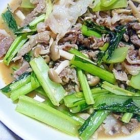 牛肉薄切りと野菜の炒め物★