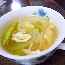 春野菜でおいしいスープ