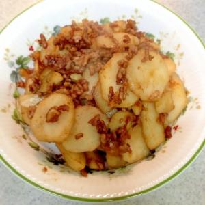 菊芋とひき肉の味噌炒め