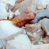 豆腐とマッシュルーム、鶏肉の煮込み