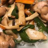 鶏肉と野菜の照り焼き丼