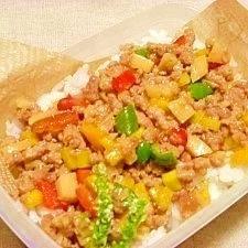 減塩☆彩りそぼろご飯