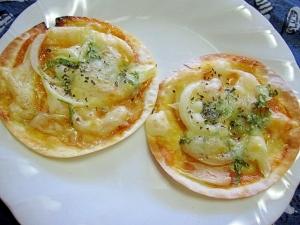 セロリと玉ねぎのおつまみピザ