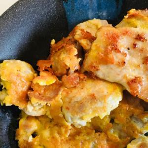 生姜焼き用肉てピカタ