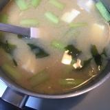 小松菜と豆腐とわかめの粕汁(*^^*)☆