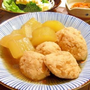 加賀太きゅうりと鶏団子の煮物