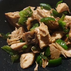 ブリとピーマンの生姜麺つゆ