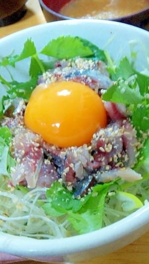 鰯の香味野菜たっぷり丼