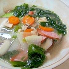 夏野菜の中華スープ