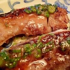 焼き魚のネギ塩麹だれ