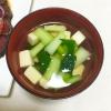 たまご豆腐と小松菜のお吸い物