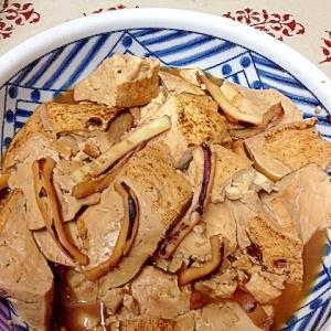 焼き豆腐&イカの甘辛〜い煮付け