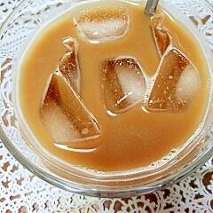 アイス☆黒豆ジンジャーきなこカフェオレ♪