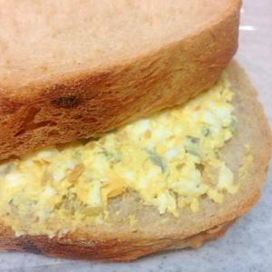 お漬物消費に 卵サンドイッチ