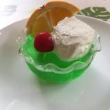 クリームソーダゼリー!かき氷シロップ使ってます☆