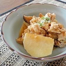 ルクエで里芋のひき肉餡かけ、焼肉のタレで韓国風?