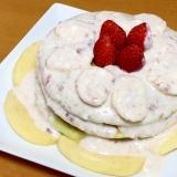 イチゴのパンケーキ( 一一)ヨーグルトソース
