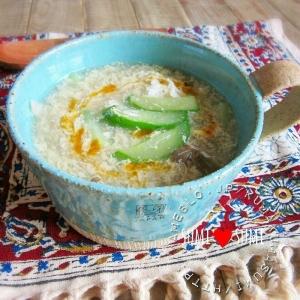 朝10分で!きゅうりと卵の中華スープ