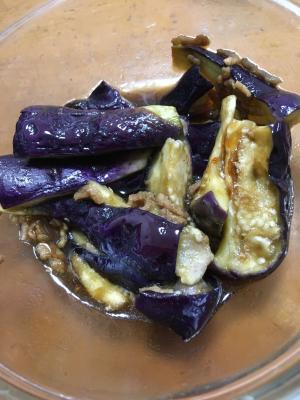 レンチンdeナスと豚ひき肉の中華炒め物風
