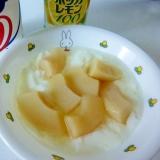 ☆桃チーズケーキ風ヨーグルト☆
