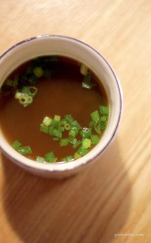 簡単美味しい♪高野豆腐の粉で即席!わかめスープ