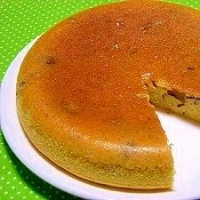 炊飯器とホットケーキ粉de栗の渋皮煮入りケーキ
