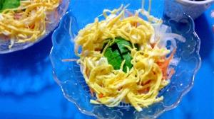 カボスポン酢のフラワーサラダ
