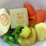 【幼児食】アンパンマンの高野豆腐で☆簡単煮物