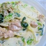 簡単♪白菜と鶏肉のクリーム煮