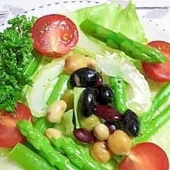 5種の豆のサラダ