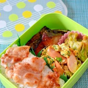 5分で簡単!菜の花とウインナーのスクランブルエッグ