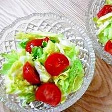 春キャベツの柚子胡椒サラダ