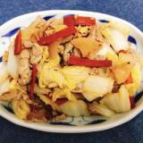 【夫婦のおつまみ】白菜と大根の豚こま中華風炒め