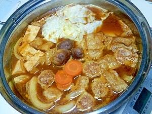 赤みその根菜鍋++