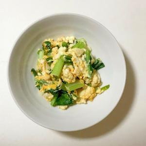 麺つゆで簡単小松菜の卵炒め
