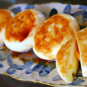ゆで卵の醤油焼き