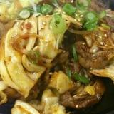 牛肉とキャベツのスタミナ焼き