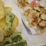 少ない油でフライパン天ぷら。
