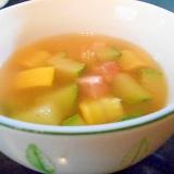 ベーコンとズッキーニのコンソメスープ