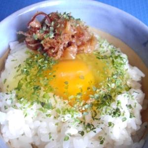 梅かつおの卵かけご飯♪
