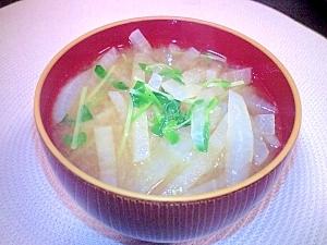 大根と豆苗のお味噌汁