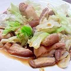 焼肉のタレで~美味☆豚ミノとキャベツ炒め