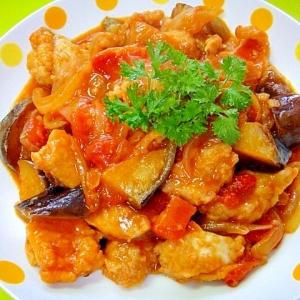 茄子と鶏肉のトマト煮