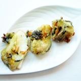 お茶漬けの素の天ぷら衣で 白身魚の天ぷら