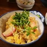 めんつゆで味付け簡単!木の葉丼