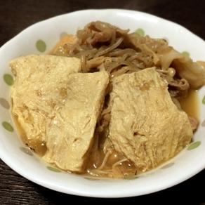 滲みた豆腐が美味しい「冷凍豆腐の肉豆腐」