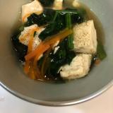 焼き豆腐のほうれん草あんかけ