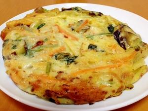 野菜たっぷりチーズガレット(*^_^*)
