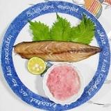 鯖の丸干のグリル焼き