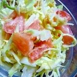 簡単サラダ♪キャベツとトマトの胡麻ドレッシング和え
